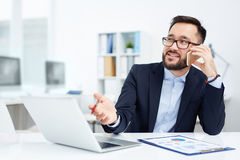 Calling in office Royalty Free Stock Photos