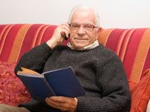 Calling old man Royalty Free Stock Photography