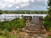 Calling Panther Lake. A view of Calling Panther Lake near Crystal Springs, Mississippi, USA Stock Image