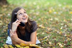 Calling by phone Royalty Free Stock Photos