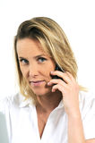 Calling by phone Stock Images