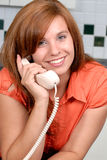 Calling On The Phone stock photos