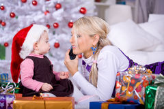 Calling Santa Royalty Free Stock Photo