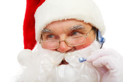 Calling Santa Claus Royalty Free Stock Photo