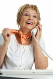 Calling senior woman Royalty Free Stock Photo