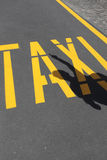 Calling a taxi. And detail of written Stock Photos
