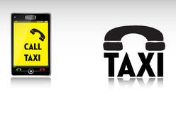 Calling a taxi Royalty Free Stock Photography
