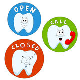 Calling teeth Royalty Free Stock Images