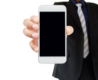 Calling to businessman with the smartphone Royalty Free Stock Photos
