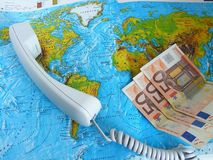 Calling travel agency Stock Photo