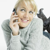 Calling woman Stock Image
