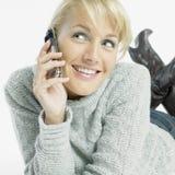 Calling Woman Stock Image