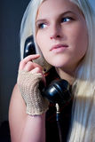 Calling woman Stock Photography
