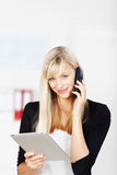 Calling woman Royalty Free Stock Image