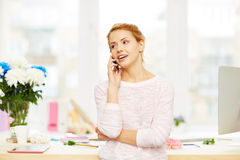 Calling at work Royalty Free Stock Images