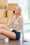 Calling you from my new house! Royalty Free Stock Images