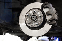 Calliper disk brake close up Royalty Free Stock Image