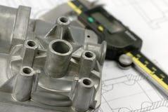 Calliper and mechanical part Stock Photos