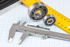 Callipers with bearing Royalty Free Stock Photo