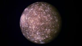 Callisto moon. Animation of Callisto satellite in rotation royalty free illustration