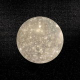 Callisto planet - 3D render Royalty Free Stock Images