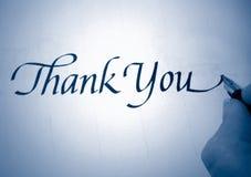 callligraphy благодарит вас Стоковые Фотографии RF