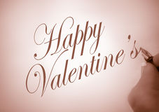Callligraphy happy Valentine Royalty Free Stock Photography