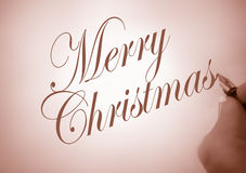 Callligraphy merry christmas Royalty Free Stock Photo