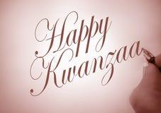 callligraphy szczęśliwy Kwanzaa zdjęcie royalty free
