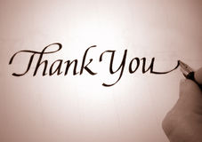 Callligraphy thank you Stock Images