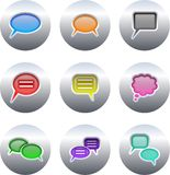 Callout buttons vector illustration