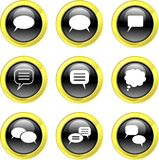 Callout icons royalty free stock images