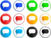 Callout sign icons stock photo