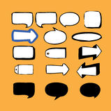 Callout-Speech Bubbles 2. Callout Shapes (Speech Bubbles) and arrows No.2 Royalty Free Stock Images