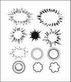 calloutanförande för 3 bubblor Arkivbilder