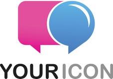 Calloutformsymbol/logo Royaltyfri Bild