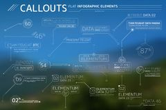 Callouts Flat Infographic Elements Collection. Corporate Infographic Elements is an excellent collection of vector graphs, charts and diagrams royalty free illustration