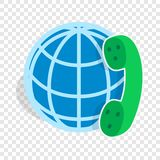 Calls around world isometric icon Royalty Free Stock Photos