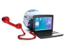 Calls via the internet Stock Photography