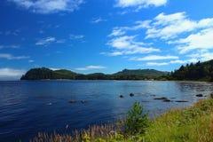 Callum Bay op de het Noordenkust van Olympisch Schiereiland, Washington royalty-vrije stock foto's