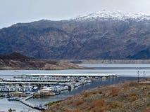 Callvillebaai in Wintertijd bij Meer Mead National Recreation Area, Nevada Royalty-vrije Stock Afbeeldingen