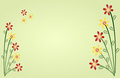 Callygraphic art. Floral background with colorful flowers royalty free illustration
