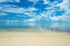 Calm ARAGUSUKU Beach, Okinawa Prefecture/Japan Stock Photo
