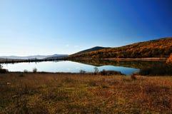 Calm autumn lake Stock Photo
