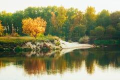 Calm Autumn River Landscape Stock Photography