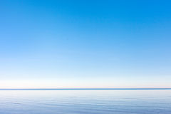 Calm in Baltic sea. Blue gulf of Riga, Baltic sea in nice summer day Royalty Free Stock Image