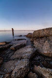 Calm Baltic sea. Baltic sea coast in Tallinn near Linnahall Royalty Free Stock Image