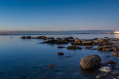 Calm Baltic sea. Landscape with stones Stock Photography