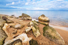 Calm Baltic sea scenery at winter time Royalty Free Stock Images