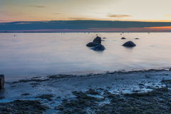 Calm Baltic sea seascape with rocks Stock Images